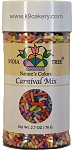 Natural Colored Sprinkles (Carnival Mix) (2.7 oz.)