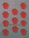 11 paw shape candy mold (1.5 inch paws)