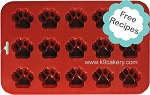 15 Mini Dog Paws Silicone Cake Pan (1.5
