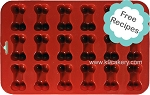 18 Mini Dog Bones Silicone Cake Pan (1.5