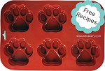 6 Paws Silicone Dog Cake Pan (4