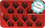 16 Mini Dog Houses Silicone Cake Pan (1.5