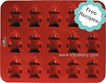 15 Mini Fire Hydrants Silicone Cake Pan (1.5