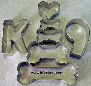 7 piece dog cookie cutters