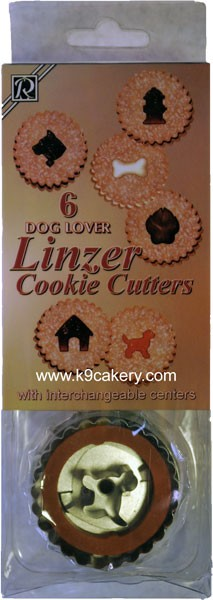 Dog Themed Cookie Cutters Linzer Set (6 dog related shapes)