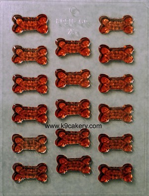 17 bone shape candy mold (1.5 inch long)