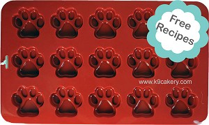 "15 Cavity 2"" Dog Paws Silicone Cake Pan (2"" round x 0.5"" deep)"