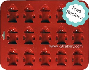 "15 Mini Fire Hydrants Silicone Cake Pan (1.5"" x 0.5"" deep)"