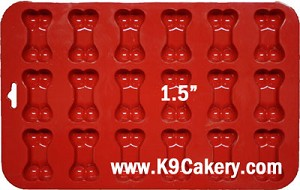 "18 Mini Bones Silicone Cake Pan (1.5"" each)"